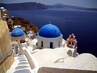 Santorini: Pyrgos and Oia - Half Day Tour